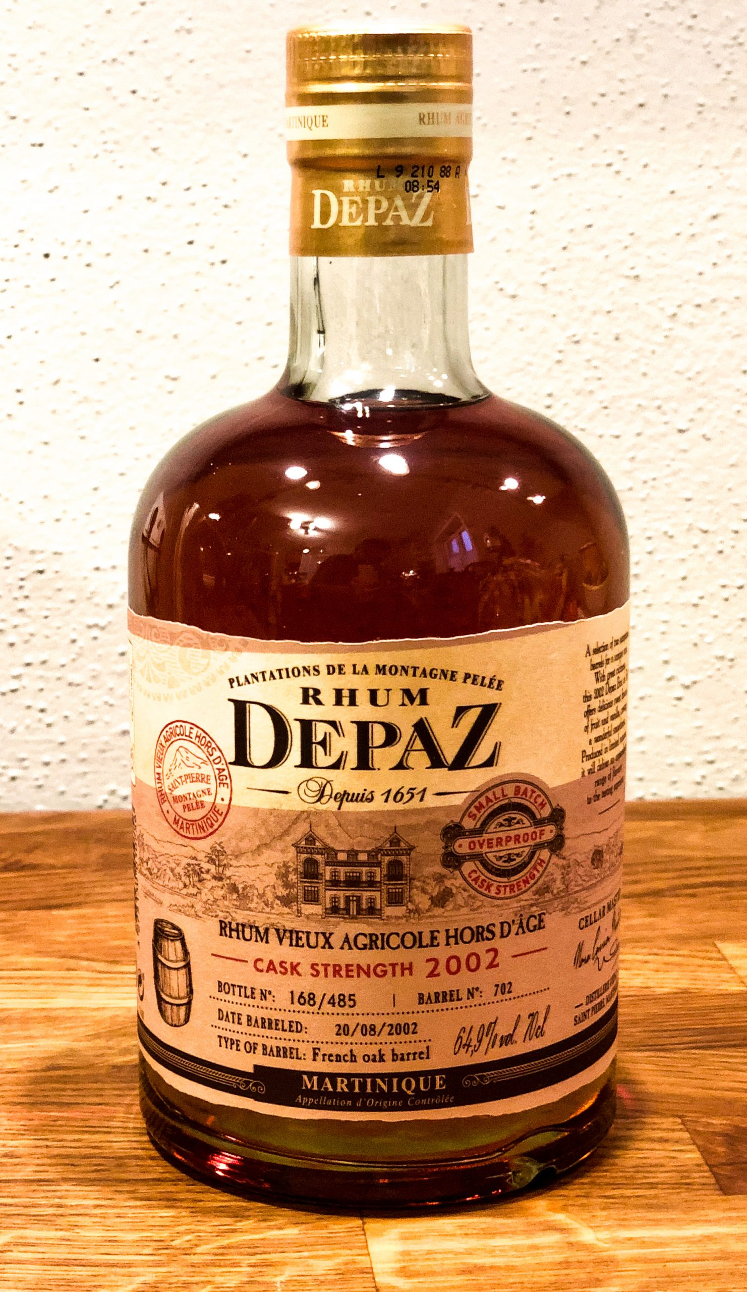 Rhum Depaz Cask Strength 2002